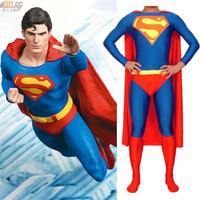 2014 new Halloween costumes men Superman costume adult Lycra Spandex Material SuperHero Costumes cosplay Full Body Suit