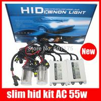 factory wholesales hid kit 55W  AC hid xenon kit slim ballast enough power h1 h3 h4 h7 h9 h11 h16 880 hid kit 10 sets