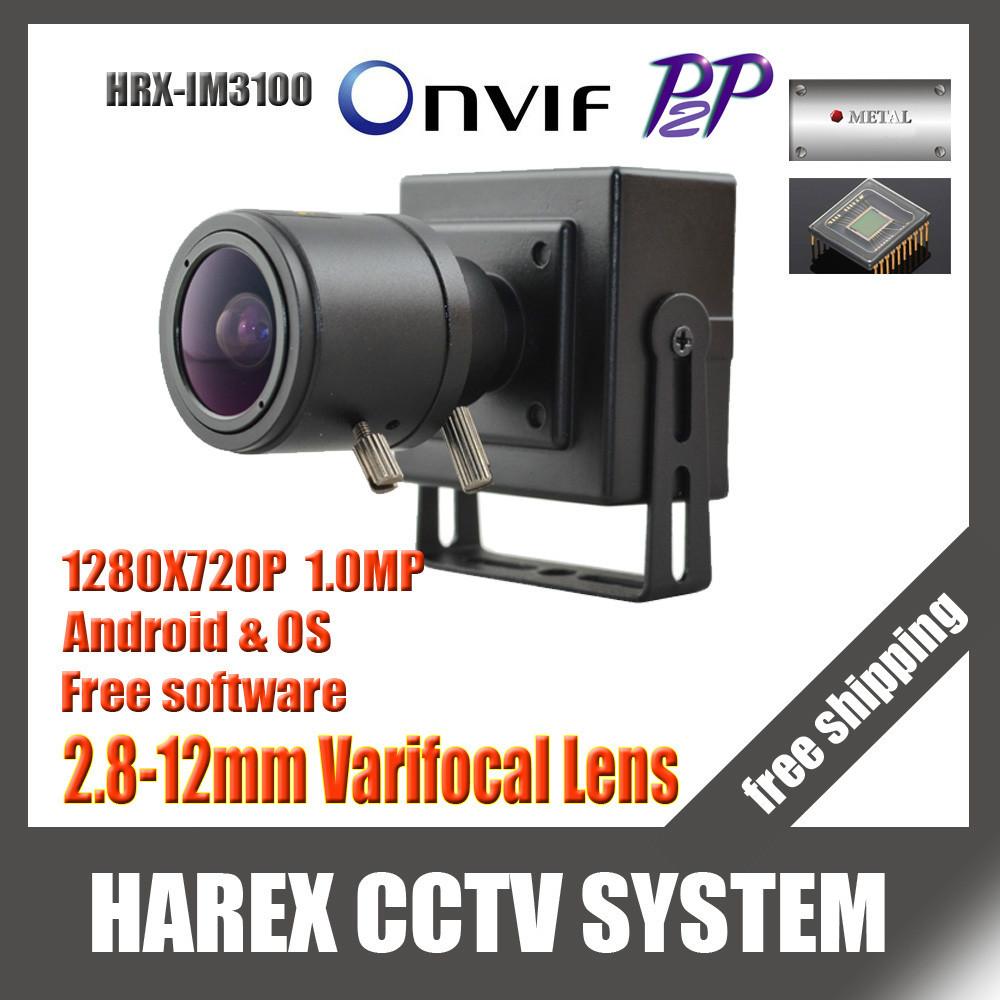 1280* 720p 1. 0mp mini-ip-kamera onvif 2. 0 2,8-12mm handbuch vario zoom-objektiv p2p plug and play mit halterung. Versandkostenfrei