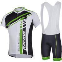 Men Outdoor Road Bike Bicycle suit jersey+bib shorts comfortable cycling wear riding sportswear free shipping