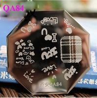 Free Shipping  QA84  10pcs/lot  Stamping Nail Art  Stamping Plate