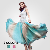 Free Shipping new 2014 woman clothing Bohemian chiffon dress Tee sleeveless  woman fashion casual dress F480
