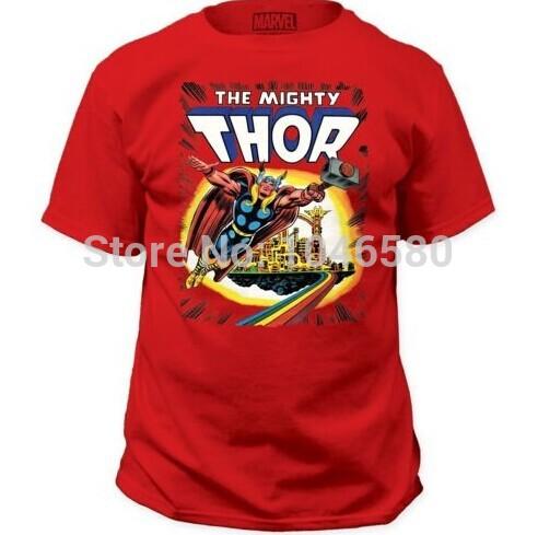 2014 New arrival men/women t shirt Marvel Comics The Mighty Thor cartoon o-neck T-Shirt  fashion design mens printed cotton tee(China (Mainland))