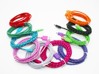 10 colors 1 Pcs 6FT Fabric Braided Micro USB Sync Charger Cord Cable for Samsung S2 S3 S4 for HTC for LG