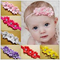 Children & Kids Boutique Elastic Headband,Baby Pearl Lace Headwear Toddler Baby Girls Felt Flower Hair Bands,FS218+Free Shipping