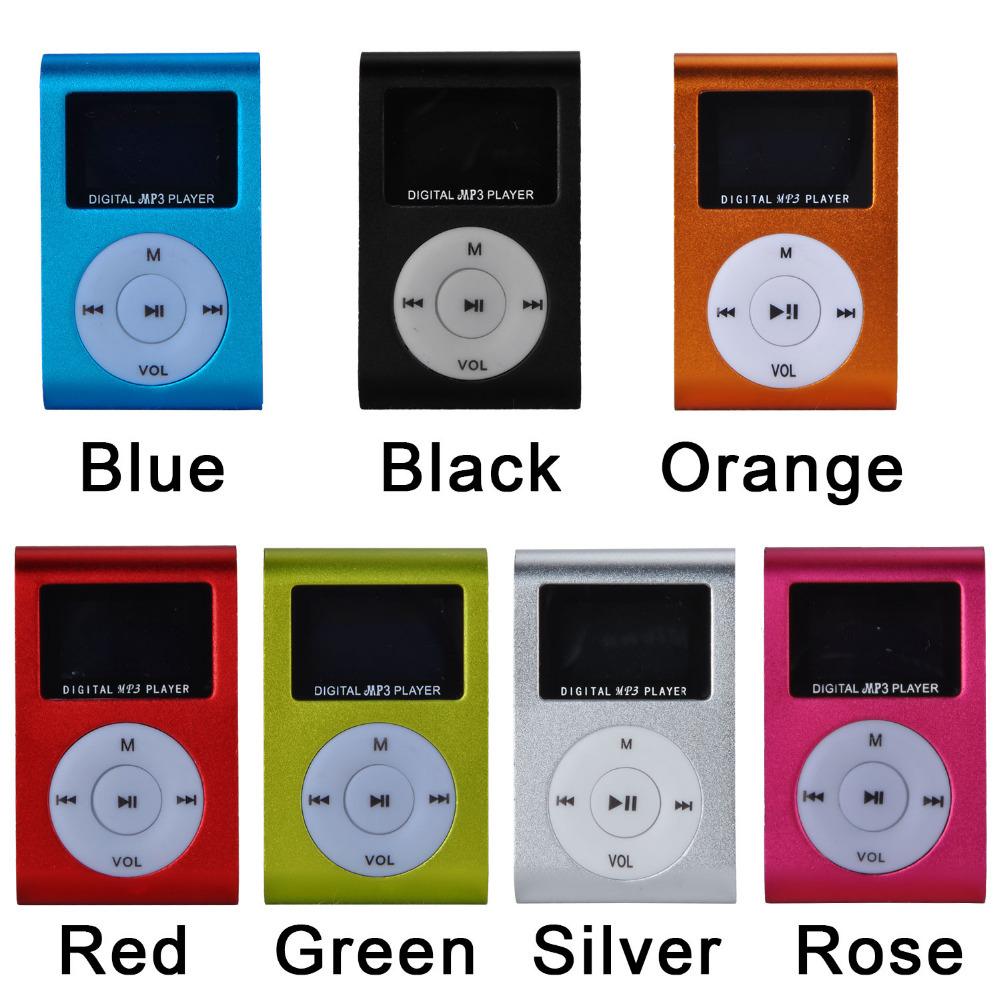 Small Cute MP3 With Display Screen Mini USB and TF Card Slot Multi Colors DA1038(China (Mainland))