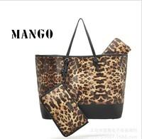 Mango Fashion women's PU leather Leopard Punk desigual one shoulder bags Wallets clutch Brand handbags famous brand designer bag