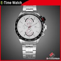 New Fashion Curren Brand Full Steel Watch Casual Male Business Clock Men Dress Quartz Wristwatch Military Watches MN4958