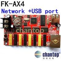 FK-AX4 network RJ45 Ethernet port 1024*32 pixels max 64pcs p10 led module support single&dual color LED display control card