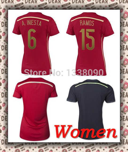 ,  mujer rojo camisetas Spain ladies Jersey женская футболка brand camisetas ropa mujer camisetas y ballinciaga 2015 ld226