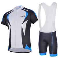 Cycling wear jersey shirt+bib shorts bicycle suit outdoor bike men sportswear cycling clothing