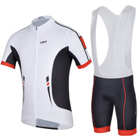 2014  New men bike cycle clothing cycling suit jersey jacket bib shorts  bicycle set riding outfit CHEJI WTBK004
