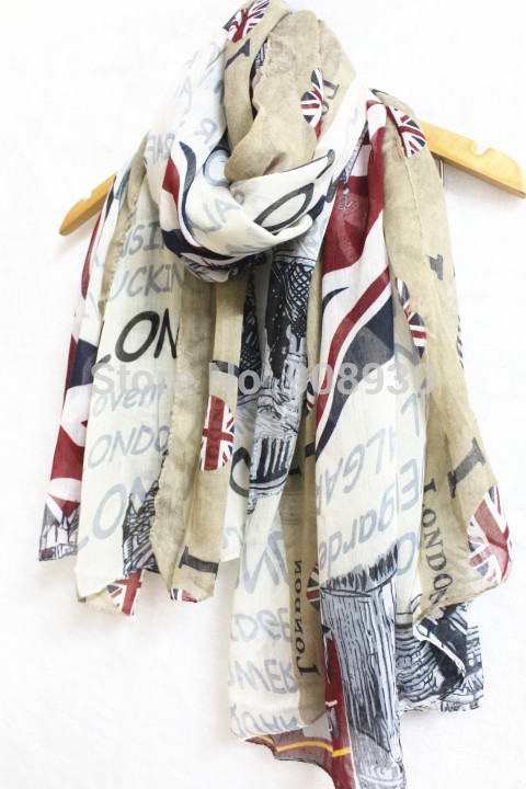 Fashion shawl unisex love London printing scarf Nice looking design(China (Mainland))