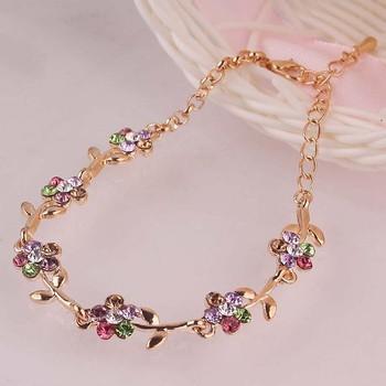 Flower Разноцветный 14K Золото Plated Chain Bracelets&Anklets For Женщины Anklets ...