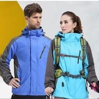 E Men's Windstopper Waterproof Softshell Jacket,Autumn Winter Outdoor Coat,Denim  Outdoor Camping Hiking Sports Casual Jacket