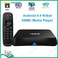 M8 Amlogic S802 Quad Core TV Box XBMC Android 4.4 Kitkat 2.4G&5G Dual Wifi 2G Ram 8G Rom Bluetooth 4.0 4K Output 5Pcs DHL Free