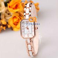 the shining Brilliant Rhinestone women Wrist Watch Artificial Rhinestone  Dress Watches Imitation ceramics Women Quartz watch