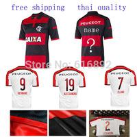 Right logo 2014 Flamengo jersey home away ALECSANDRO HERNANE  ELANO Flamengo shirt 14 15 soccer jersey thai quality  custom name
