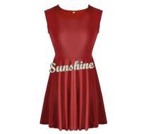 2014 Newest Vintage Women Slim Sleeveless Flared Party Dress Skater Mini Dress Lady Elegant Evening Party Dress B003 SV002894