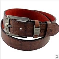 2014 New Design Famous Brand Luxury Belts  Men Belts Male Waist Strap Faux leather Alloy Buckle  free shipping