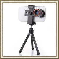 10pcs/lot 8X Universal Mobile Phone Telephoto Zoom Optical Lens Camera Telescope Len for iPhone 5 5S Samsung S5 S4 HTC