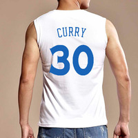 Cotton Stephen Curry #30 Basketball Jersey Men's Summer Clothing Both Front and Back Printing Wholesale Price