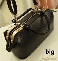 New 2015 Women Handbag Fashion Crocodile Pattern Doctor Bag Women Messenger Bags Vintage Women Bag WB3055
