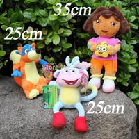25/35CM,3PCS/LOT,Stuffed Plush Toy Dora The Explorer,Swiper Fox,Boots Monkey For Kid's Gifts,Drop Free Shipping