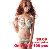 Hot 2014 women bra set sex women's underwear,2 pcs bra+pants push up bra Large size vs secret women,75c 80c 85c free shipping