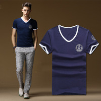 2014 new Tops & Tees fashion British style torx flag pattern o-neck casual t-shirt male short-sleeve ,Men's t shirt ,size free