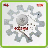 Wholesale 120V 220V 230V 240V Dia225mm 18W led down lights led circular panel LED pcb equal to 40W fluorescent 2D tube