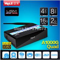 Quad Core Android TV Box  MeLE A1000G Quad Cortex A7 2GB RAM 16GB ROM 1080P HDMI WiFi Media Player  Mini PC 4K Media