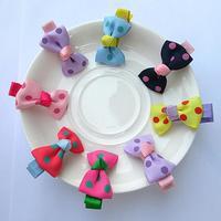 Super cute bowknot children hair accessories Hairpin wave point baby hairpin children's jewelry kids accessories gift