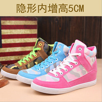 2014 autumn and winter lace canvas shoes height increasing women's sneakers