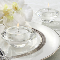Free Shipping!Wedding Gifts,Crystal Diamond Shape Candle Holder for Table Decoration,2PCS/LOT