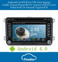 Android 4.0 OS S150 Car DVD For VW Jetta Sagitar Caddy Touran Passat B6 CC Scirocco SEAT Leon Fabia Golf 5 6 Amarok Tiguan R36