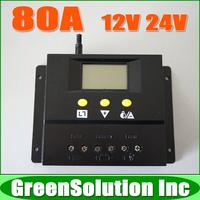 New Arrival !! 80A 12V 24V Auto Solar Controller Regulator, Solar Battery Panel Charge Controller 80Amp Solar Charge Controller