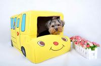 pet   Bed Bus Car House Dog House Pet Nest Foldable Dual Car Kennel Pet Products Cat Litter Pets Bed Cat Bed Cat House