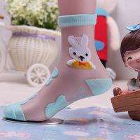 1 Lot = 24Pcs = 12Pairs Kids Socks Girls Thin Socks For Summer Revitalizing Breathable Cool Silk Flower Socks Wholesale Price