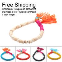Free shipping 7 inch bohemian bracelets & bangles beads bracelets for women fashion men's bracelet jewelry in jewelry DTB006