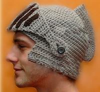 Hot mask hat Roman Gladiator Knight knit beanies hat touca men balaclava hand knit gorros women winter chapeu cap bonnet hat