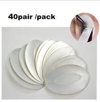 Individual 40pair/lot Silver Waterproof Patches Eyelash Under Eye Pads Lash Extension Tool Eyelash Tape Stickers Makeup Tools