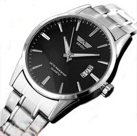 Free Shipping sport sportsman calendar section steel belt luxury watch authentic hot fashion waterproof electronic quartz watch