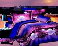 2014 NEWLY 3D bedding set bedclothes 4pcs 1 Duvet Cover +1 bed sheet +2 pillowcases bedding set