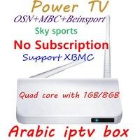 2pcs/lot,Best Arabic IPTV Arabic tv box support 300 HD Arabic channels with all latest HD movies,Arabic tv box