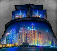 New York's Love/Hot! Reactive printed 3d bed linen bedding set cotton queen king size/bedclothes