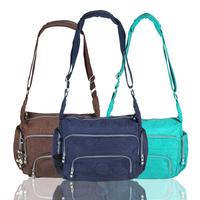 New Women Messenger Bags Fashion Nylon Zipper Bag 5 Colors Single Shoulder Bags One Shoulder Bag#HC116~HC120
