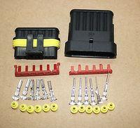 50 sets Wire Connector Plug 6 Pins Waterproof Electrical Car Motorcycle HID ATV