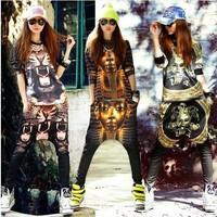 harajuku New 2014 Women fashion Sport suit Women's tracksuit  Sportswear Hip-hop long-sleeved harem pants with T-shirt LP-38