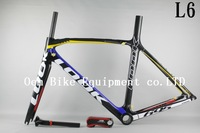 2014 LOOK 695 L6 Carbon Road bicycle Frame carbon road bike cycle frame with stem Di2 and Mechanical both